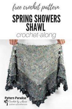 Spring Showers Shawl CAL: Part 1 | Pattern Paradise #crochet #patternparadisecrochet #springshowersCAL #ktandthesquid #crochetlove #crochetshawl