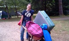 Wheelbarrows to haul your stuff to your camp spot.