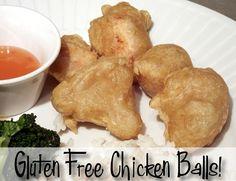 gluten free, corn free chicken balls- just make sure your baking powder is corn free....
