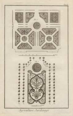 Artist: Denis Diderot (publisher)  Title: French late 18th century garden design (2)  Method: Copper-line engraving  Date: C1770