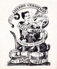 Marc Davis Christmas Card - 1972