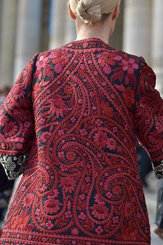Indian paisley embroidered coat, uncredited