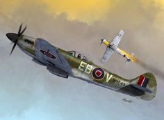 Spitfire Mk XIV Bubbletop by Jerry Boucher Ww2 Aircraft, Fighter Aircraft, Military Aircraft, Fighter Jets, Focke Wulf 190, The Spitfires, War Thunder, Aircraft Painting, Airplane Art