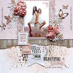 BEAUTIFUL & ADORED {merly impressions & kaisercraft} Scrapbooking Layouts, Place Cards, Gallery Wall, Place Card Holders, Scrapbook Layouts, Scrapbooking Ideas, Scrapbook Page Layouts