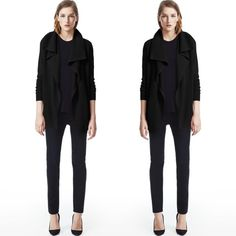 • Theory • Black Cardigan Cashmere cardigan, look elegant and chic while remaining comfortable Theory Sweaters Cardigans