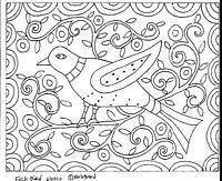 RUG HOOK CRAFT PAPER PATTERN Folk Bird FOLK ART PRIMITIVE Karla Gerard