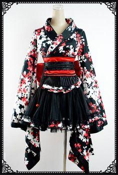 Punk- Rave Floral kimono