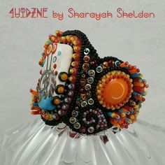 Textured bead embroidered cuff by #4uidzne #Sharayah Sheldon