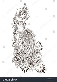 Belly Dancing Classes In San Antonio Pencil Art Drawings, Art Drawings Sketches, Black Dragon Tattoo, Mandala Art Lesson, Peacock Wall Art, Bd Art, Dancing Drawings, Free Adult Coloring Pages, Dance Images