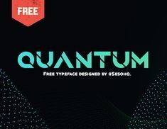 Quantum is a bold typeface created by Greg 'Sesohq' Ortiz . This unique typeface was inspired from use of the shape builder tool and bold accents. It has an original slashed & futuristic design that is great for anything related to gaming, space, future, Sci-fi, etc. and is excellent for l