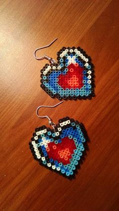 Legend of Zelda Piece of Heart Earrings by MinakosBeadArtStudio