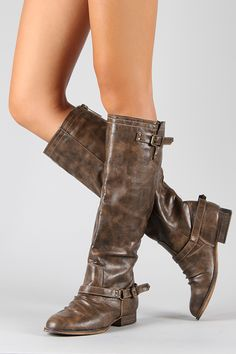 Breckelle Outlaw-91 Buckle Riding Knee High Boot 37$