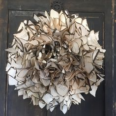 Scrunched and 'burned' book page Wreath More