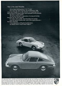 1966 #Porsche #911 #Advertisement