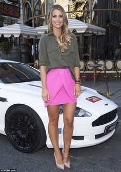 Single lady: Vogue Williams made the most of her newly single status as she showcased her ...