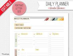 EDITABLE DAILY PLANNER Vinta Theme by ListLab on Etsy, $3.00