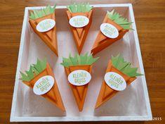 Oster-Möhrchen mit der Thinlitsform Tortenstück von Stampin'Up!