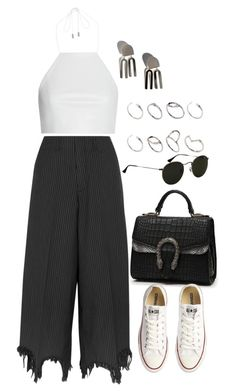 """""""Untitled #10580"""" by nikka-phillips ❤ liked on Polyvore featuring Facetasm, rag & bone, Ray-Ban, Converse and ASOS"""