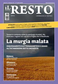 La copertina del n. 21 del settimanale iL Resto - è possibile scaricare la copia in formato elettronico all'indirizzo www.ilresto.tv/archivio