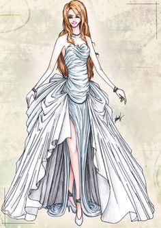Dress design ways outfits on pinterest sketches for How to draw a wedding dress