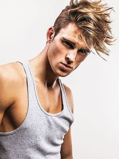 Men with medium length messy hairstyles