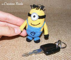 Keychain minion amigurumi minion Despicable Me by raducristina