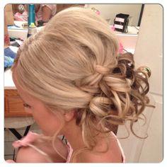 Wedding hair with braid.