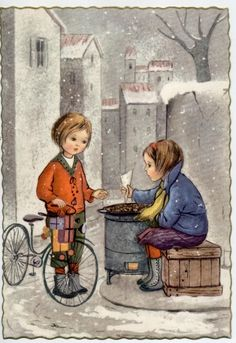Childrens Bicycle Complete Set of 6 Postcards PC Circa 1940 A | eBay