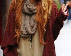 Where to get this Jacket: cyrus miley cyrus scarf oversized cardigan oversized cardigan Teen Fashion, Fashion Beauty, Womens Fashion, Hipster Fashion, Cheap Fashion, Hipster Clothing, Hipster Style, Fashion Hair, Fashion Clothes