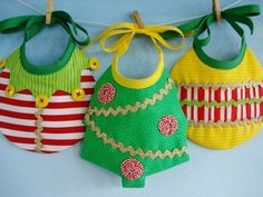 Baby Bib Sewing Pattern for Elf, Tree and Ornament - PDF ePattern. $3.99, via Etsy.