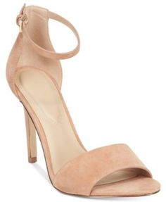 The slender ankle strap on Aldo's Fiolla two-piece dress sandals pairs with skirts and dresses in must-have style with a touch of delicate elegance. | Suede upper; manmade sole | Imported | Round open