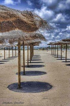 The beach at Valdelagrana, El Puerto de Santa Maria, Spain
