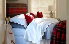The task is easier if the room already has plain walls as these won't need to be re-painted or papered. As we know statement headboards are all on-trend so making a tartan headboard will be ticking off two of the top interior design 'must haves' – which should please your teen.