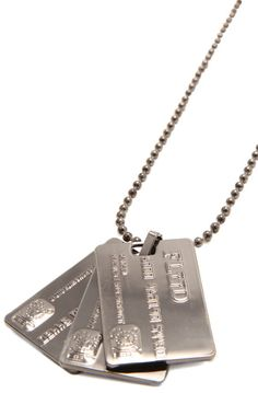 The Credit Card Necklace in Gunmetal ... so cute