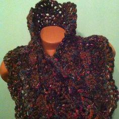 Crochet Scarf Princess scarf Chunky scarf Neckwarmer Into the