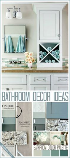 Love the color scheme of this bathroom! Bathroom Decor Ideas and Design Tips at the36thavenue.com