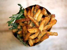 Spike's Village Fries, tossed with rosemary, thyme, and love. [Photograph: Good Stuff Eatery]