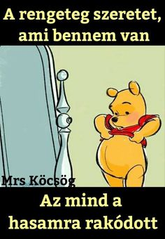 Sok szeretettel teli pocak járkál a világban 😉 Funny Fails, Funny Jokes, Funny Photos, Winnie The Pooh, Haha, Laughter, Comedy, Disney, Thoughts
