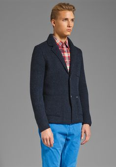 CLOSED Men's Knit Blazer in Twilight at Revolve Clothing - Free Shipping!
