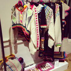 """katiejonesknitwear: """"#lfw #estethica emerging talents showrooms! Day 1! """""""