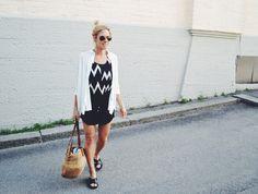 Black & white summer outfit - lainahöyhenissä