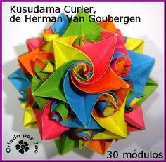 Artes Redobradas: Passo-a-passo do módulo para montar o kusudama.