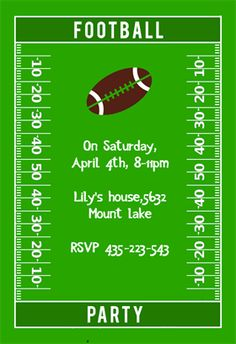 Free Football Laces Invitations | Football, Ea and Flyer ...