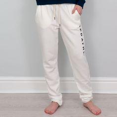 Autumn - Fleece Jog Pants - White A