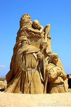 Sand Sculpture - Lord Of The Rings  © Stangot | Dreamstime.com