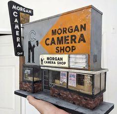 Camera Shop, Scale Models, Vignettes, Diorama, Street Art, Miniatures, Instagram, Dioramas, Mockup