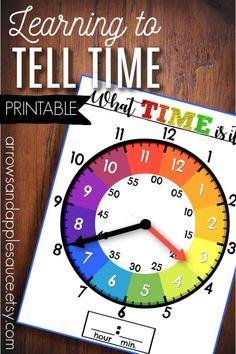 printable clock hands template.html