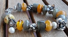 """""""Did I ever say I love stones?"""" Gold and grey, and lovely. By Elena"""