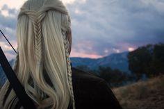 "Legolas. Elven bowman. (cosplay) by TheRoiz.deviantart.com on @deviantART - From ""Lord of the Rings"". I love this shot showing the back of the hairstyle."
