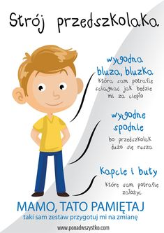 Codzienny strój przedszkolaka - 7 skutecznych zasad - Ponad Wszystko Diy And Crafts, Crafts For Kids, Origami, Teaching Materials, Baby Time, Kids And Parenting, Kids Playing, Hand Lettering, Kindergarten